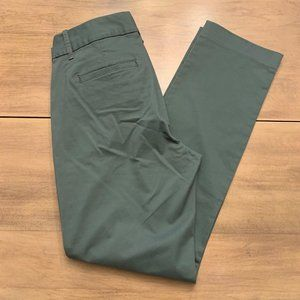 J CREW NWT Sz 2 Laney Chino Ankle Pant Olive Green